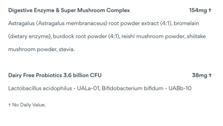 Digestive Enzyme and Super Mushroom Complex