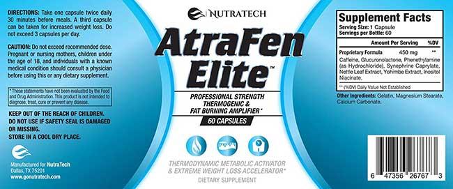 Atrafen Elite ingredient profile