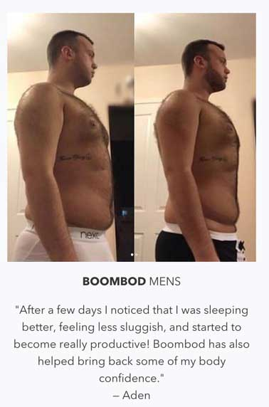 Boombod Black for men before and after