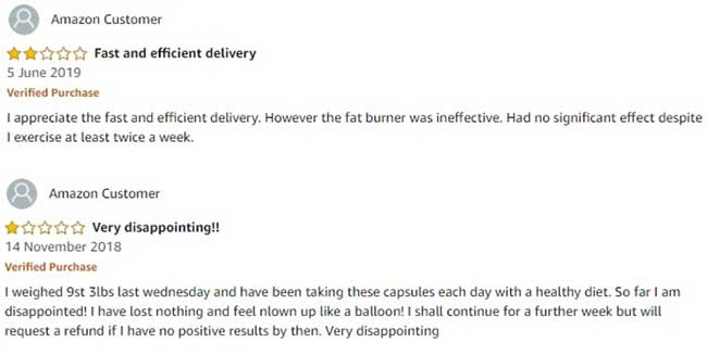 Cute Burner Capsules reviews from customers that are negative
