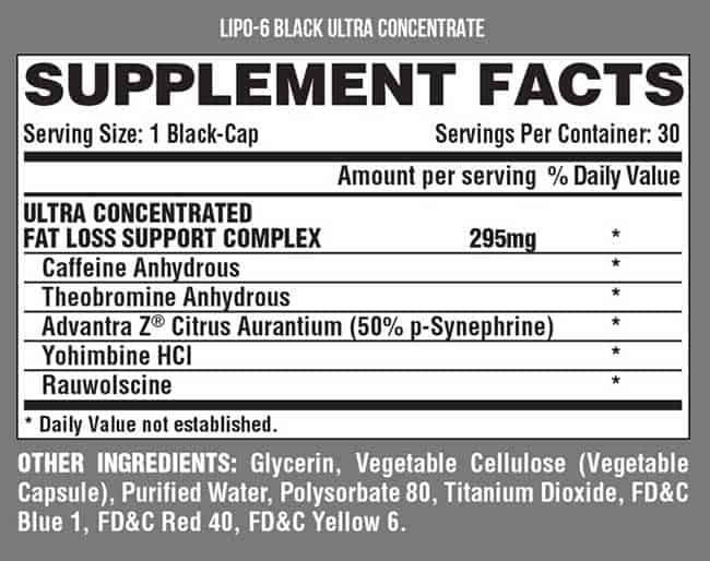 Lipo6 Black Ultra Concentrate supplement