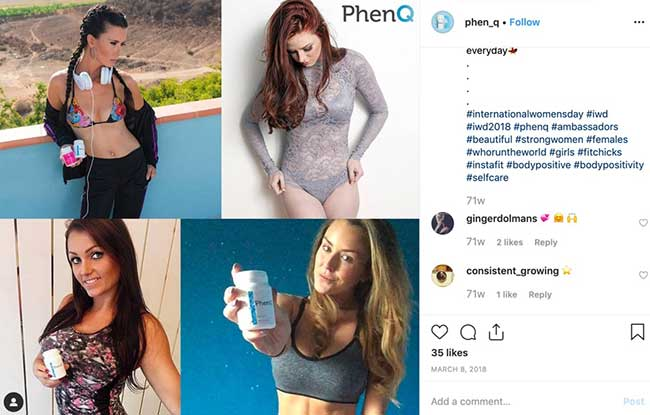 weight loss results on Instagram and social media