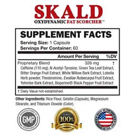 Skald ingredient label