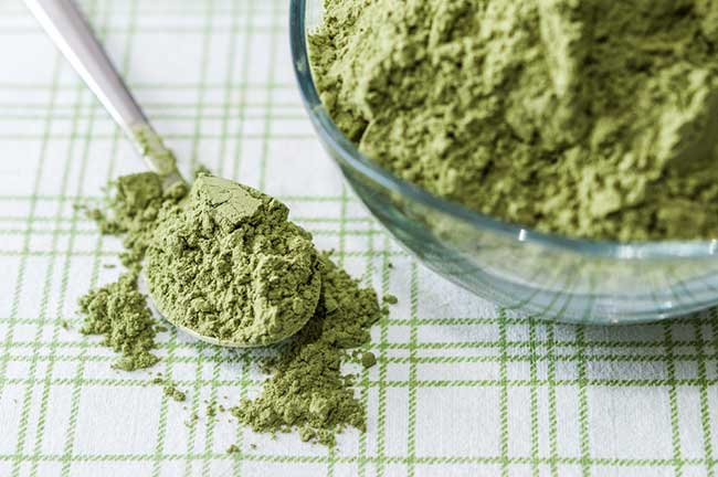 Supergreens in powder form