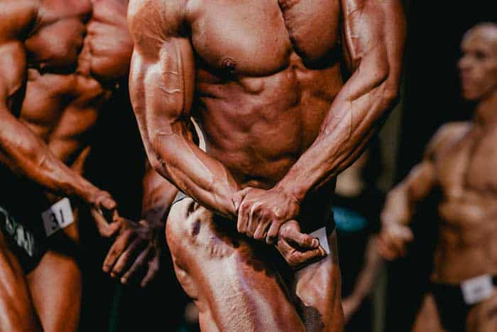 Competitive bodybuilders are not just building and sculpting muscle to look good, they're doing it to try and win a prize.
