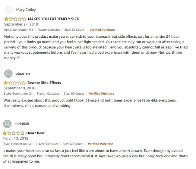 Cellucor Super HD bad customer reviews