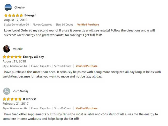 Cellucor Super HD positive customer reviews
