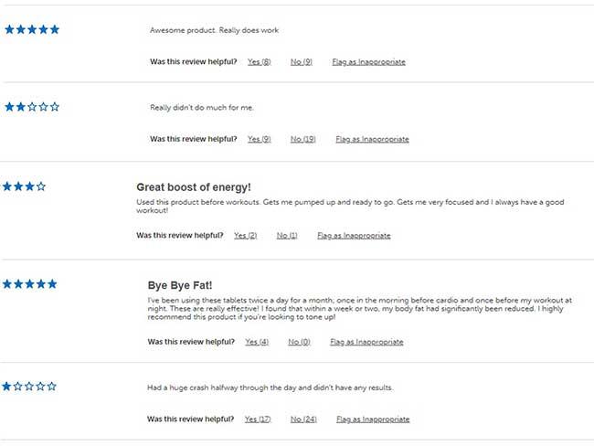Hydroxycut Hardcore Feedback from customers