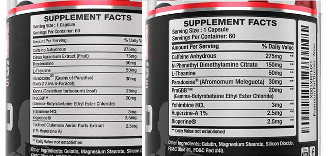 Iron Bothers Thermo Burn supplement facts