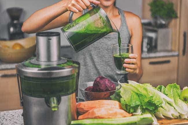 Woman juicing