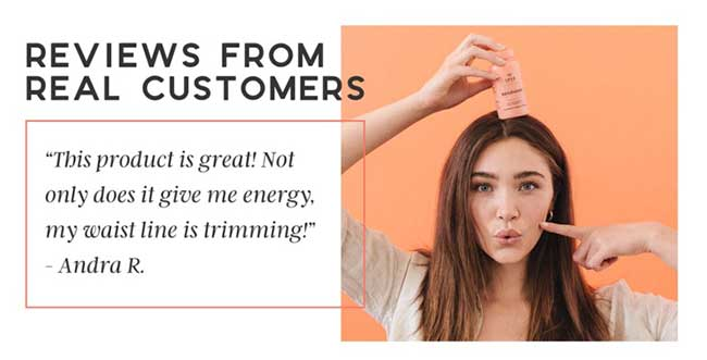 Customer review taken from the official website