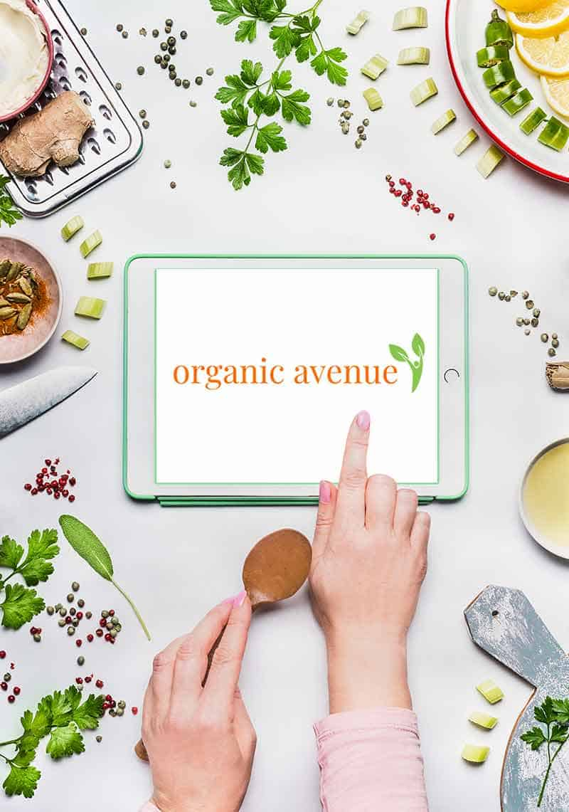Organic Avenue Frontpage