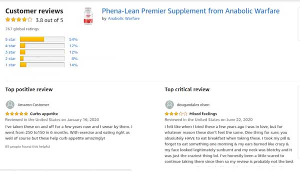 Phena-Lean Customer Reviews