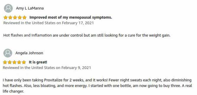 good reviews on Provitalize