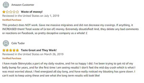 Customer reviews for Skinny tabs