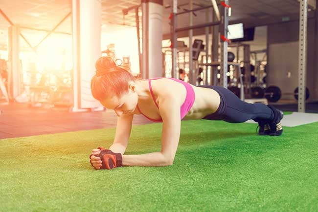 Doing the plank can shape ab muscles