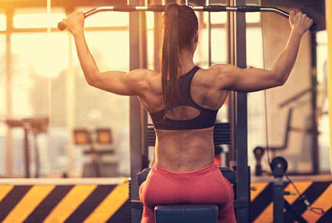 Woman building muscles