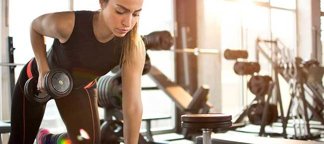 Woman building muscle