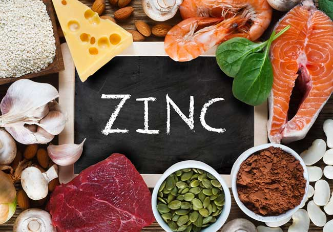 foods that contain a lot of zinc